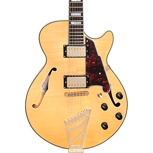 D'Angelico Excel Series SS Semi-Hollowbody Electric Guitar with Stairstep Tailpiece Natural
