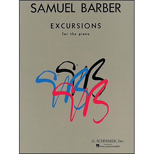 G. Schirmer Excursions for The Piano By Barber