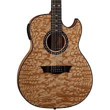 Open BoxDean Exhibition Quilt Ash 12-String Acoustic-Electric Guitar