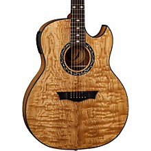 Open Box Dean Exhibition Quilt Ash Acoustic-Electric Guitar with Aphex
