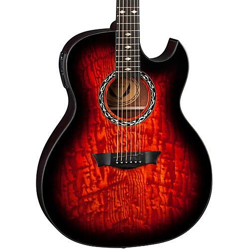 Dean Exhibition Quilt Ash Acoustic-Electric Guitar with Aphex