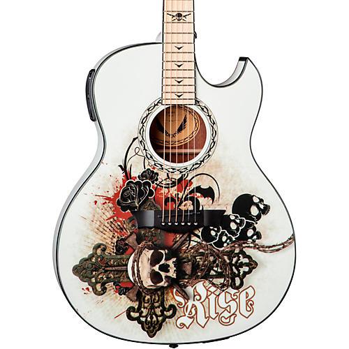 Dean Exhibition thin Body Acoustic-Electric Guitar w/Aphex