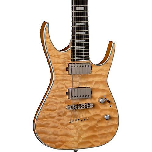 Dean Exile Quilt Top 7-String Electric Guitar Satin Natural