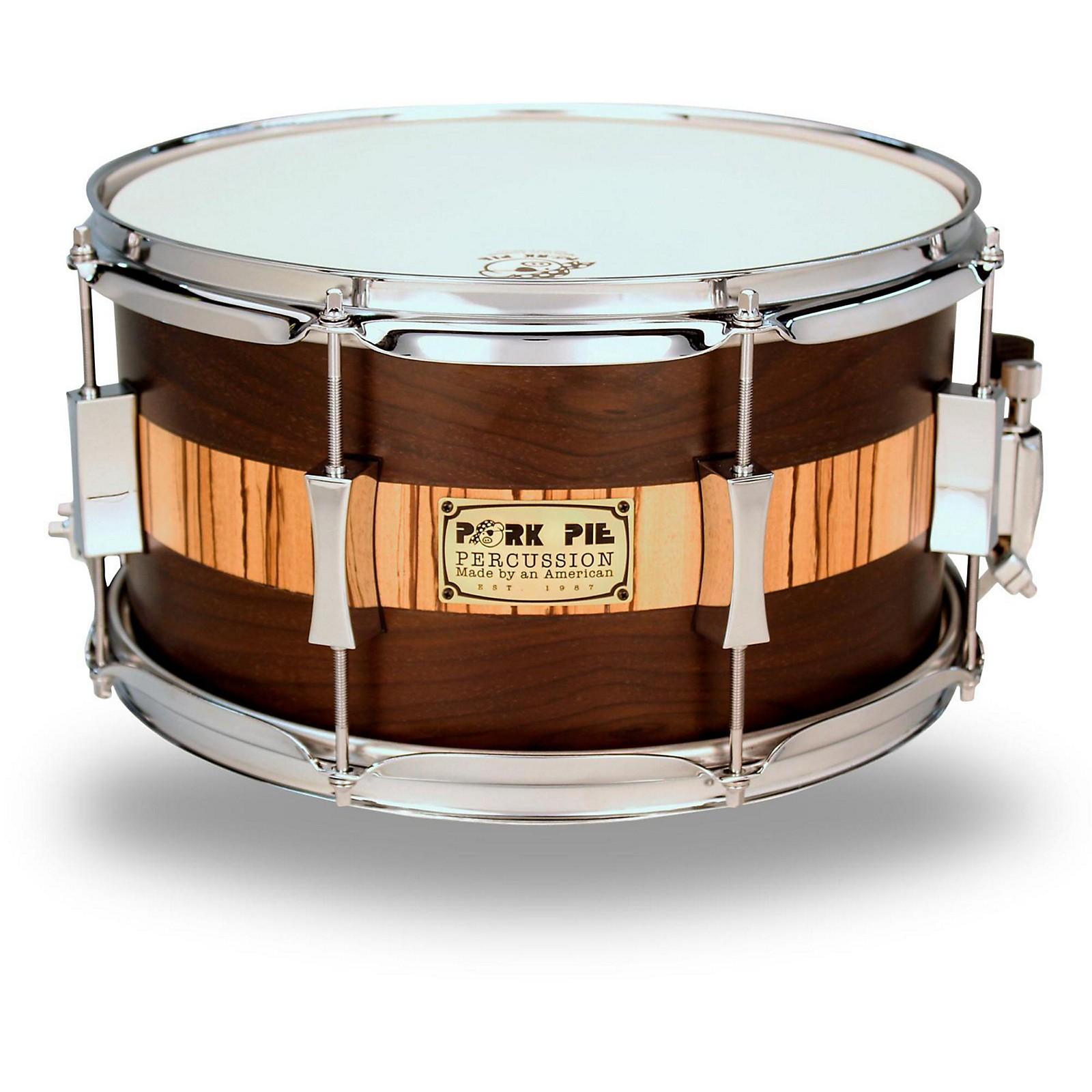 Pork Pie Exotic Rosewood Zebrawood Snare Drum