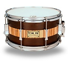 Exotic Rosewood Zebrawood Snare Drum 13 x 7 in.