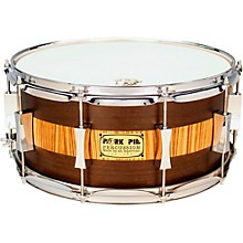 Open BoxPork Pie Exotic Rosewood Zebrawood Snare Drum