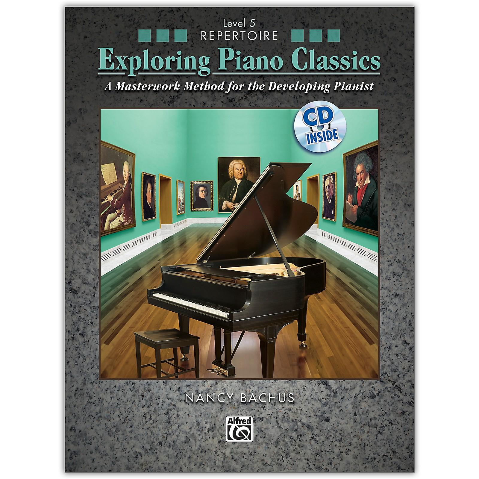 Alfred Exploring Piano Classics Repertoire, Level 5 Book & CD Intermediate / Late Intermediate