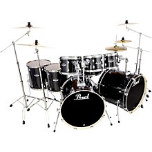 Export Double Bass 8-Piece Drum Set Jet Black