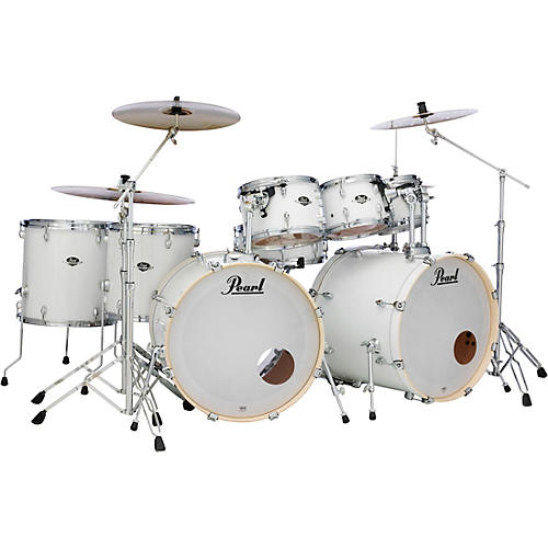 Pearl Export Double Bass 8-Piece Drum Set Pure White