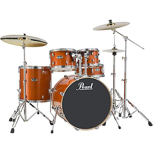 Pearl Export EXL New Fusion 5-Piece Drum Set with Hardware Honey Amber