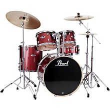 Export New Fusion 5-Piece Drum Set with Hardware Black Cherry Glitter