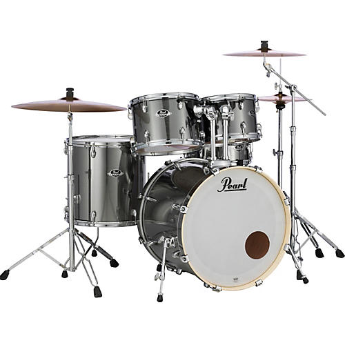 Pearl Export Standard 5-Piece Drum Set with Hardware Condition 1 - Mint Smokey Chrome