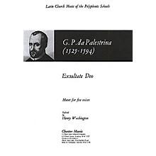Chester Music Exsultate Deo SAATB Composed by Giovanni Pierluigi da Palestrina