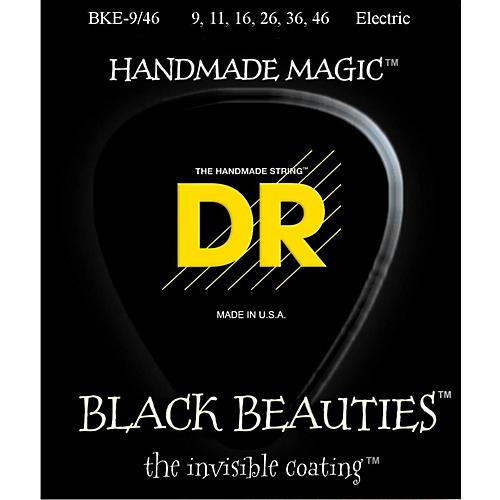 DR Strings Extra Life BKE-9/46 Black Beauties Lite-n-Heavy Coated Electric Guitar Strings