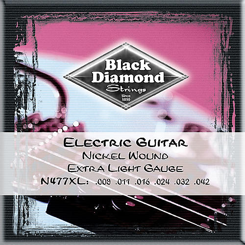 Black Diamond Extra Light Nickel Electric Guitar Strings