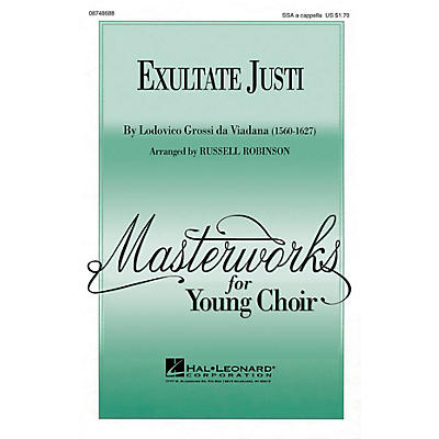 Hal Leonard Exultate Justi 3-Part Mixed a cappella Arranged by Russell Robinson