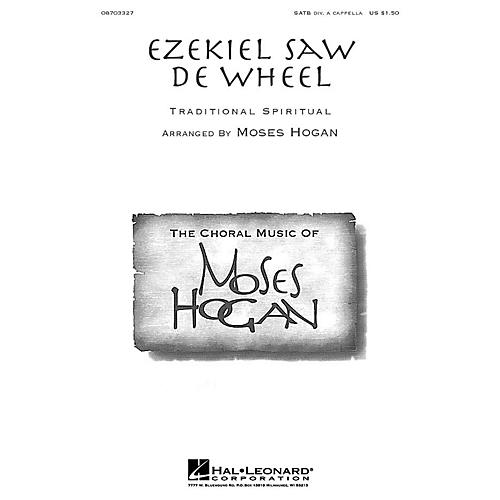 Hal Leonard Ezekiel Saw de Wheel (SATB divisi) SATB DV A Cappella arranged by Moses Hogan