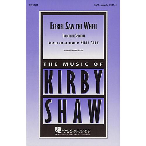 Hal Leonard Ezekiel Saw the Wheel SATB a cappella arranged by Kirby Shaw