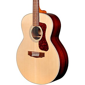 Acoustic Electric Guitars Musical Instruments & Gear Guild Westerly Collection F-1512e Natural All Solid Wood 12 String Guitar