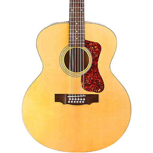 Guild F-2512E Jumbo 12-String Acoustic-Electric Guitar Natural