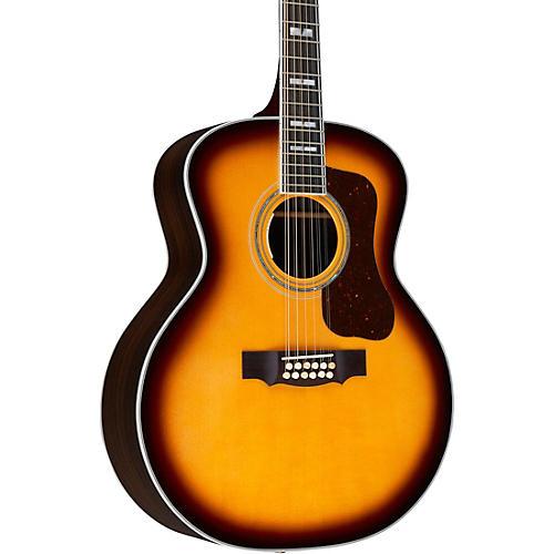 Guild F-512E Jumbo Acoustic-Electric Guitar Antique Burst