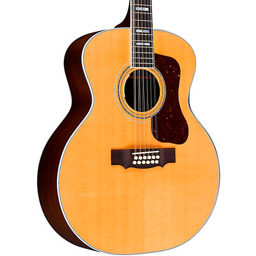 Guild F-512E Jumbo Acoustic-Electric Guitar Natural