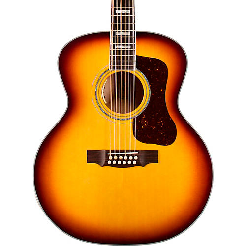 Guild F-512E Maple Jumbo 12-String Acoustic-Electric Guitar Antique Burst