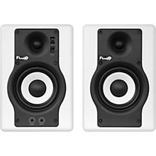 Fluid Audio F4 Pair White Powered Studio Monitors