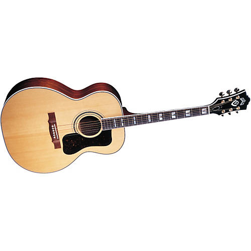guild f50r vintage jumbo acoustic electric guitar with d tar pickup and case musician 39 s friend. Black Bedroom Furniture Sets. Home Design Ideas