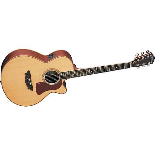 washburn f52swce cutaway acoustic electric folk guitar w case musician 39 s friend. Black Bedroom Furniture Sets. Home Design Ideas