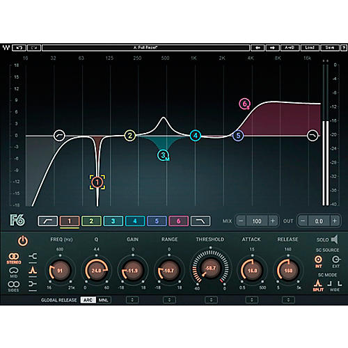 Waves F6 Floating-Band Dynamic EQ