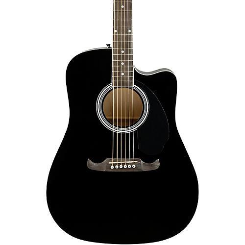 Fender FA-125CE Dreadnought Acoustic-Electric Guitar Black