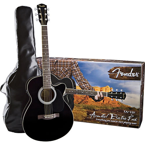 Fender FA-130 Acoustic-Electric Guitar Pack