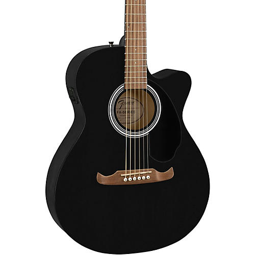 Fender FA-135CE Concert Acoustic-Electric Guitar Black
