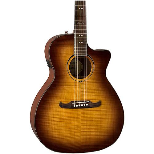 Fender FA-345CE Auditorium Acoustic-Electric Guitar 3-Tone Tea Burst