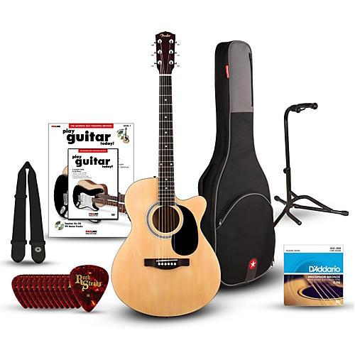 Fender FA135CE Concert Acoustic-Electric Guitar Bundle