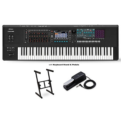 Roland FANTOM-7 Workstation With DP-10 Pedal and Z Stand