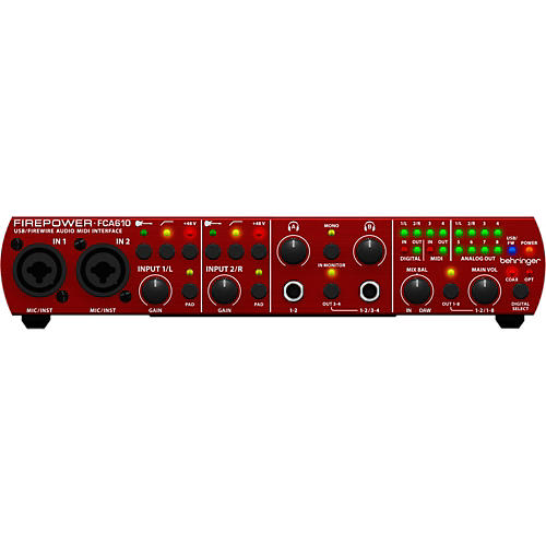 behringer fca610 firepower usb audio interface musician 39 s friend. Black Bedroom Furniture Sets. Home Design Ideas