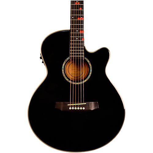 fretlight fg 629 wireless acoustic electric guitar black musician 39 s friend. Black Bedroom Furniture Sets. Home Design Ideas