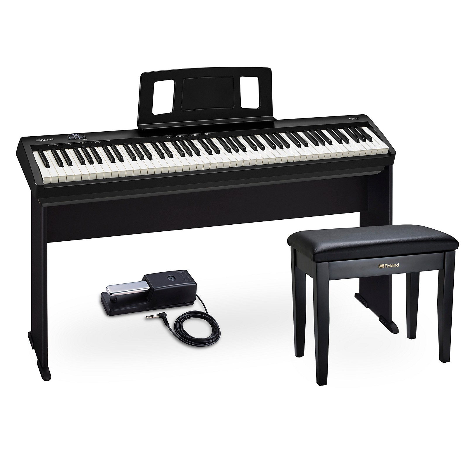 Roland FP-10 Digital Piano Package with RPB-100 Piano Bench