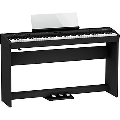 Roland FP-60X Digital Piano with Matching Stand and Pedal Board