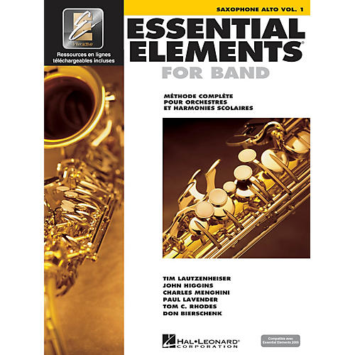 Hal Leonard FRENCH EDITION Essential Elements EE2000 Alto Saxophone (Book/Online Media)