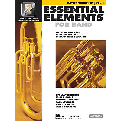 Hal Leonard FRENCH EDITION Essential Elements EE2000 Baritone/Euphonium T.C. (Book/Online Media)