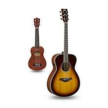 FS-TA TransAcoustic Concert Acoustic-Electric Guitar and Ukulele Package Brown Sunburst