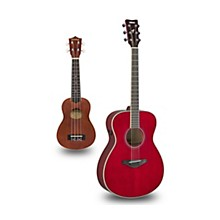 FS-TA TransAcoustic Concert Acoustic-Electric Guitar and Ukulele Package Ruby Red