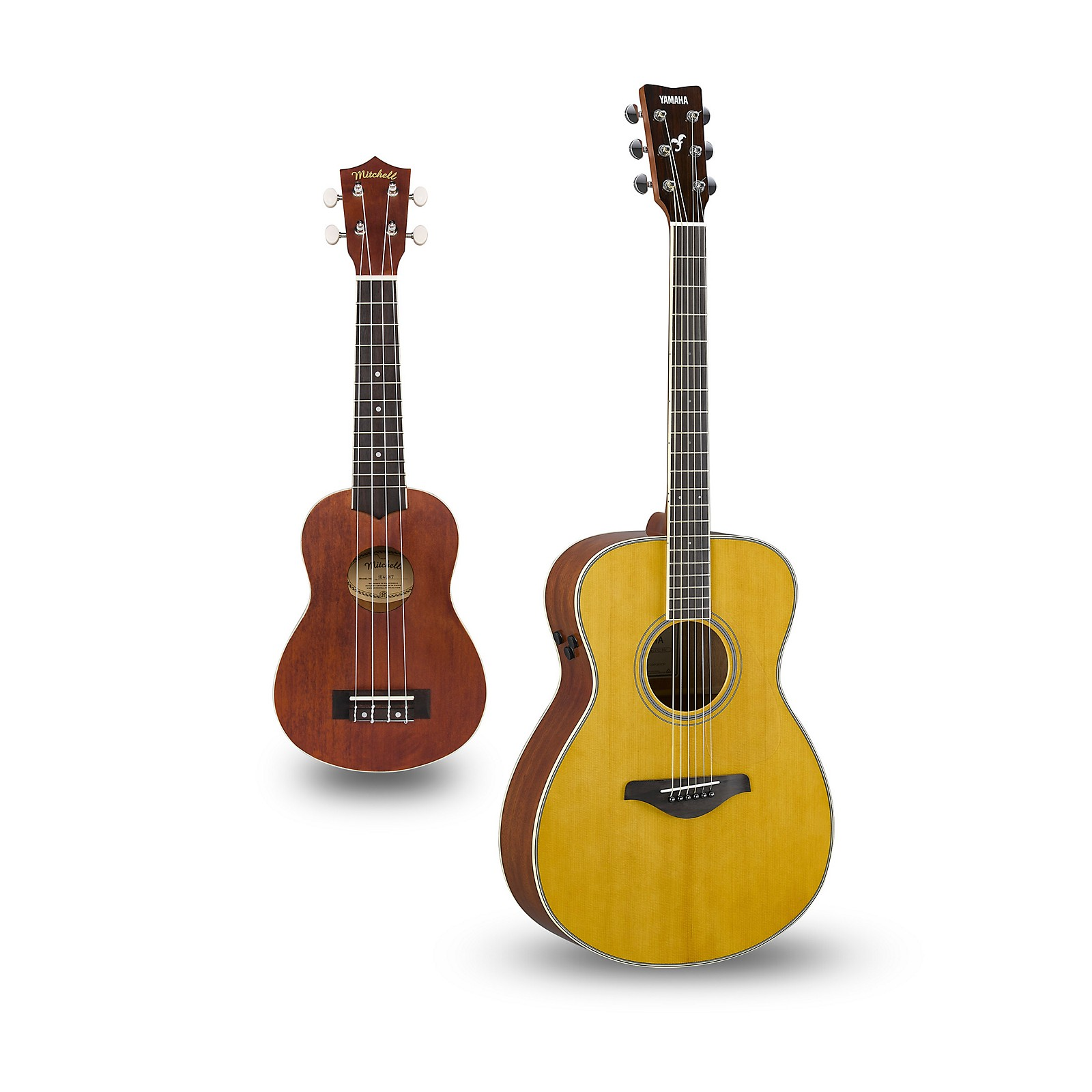 Yamaha FS-TA TransAcoustic Concert Acoustic-Electric Guitar and Ukulele Package