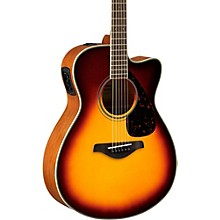 FSX820C Small Body Acoustic-Electric Guitar Brown Sunburst