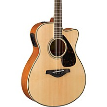 FSX820C Small Body Acoustic-Electric Guitar Natural