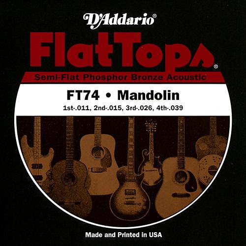 D'Addario FT74 Flat Tops Phosphor Bronze Mandolin Strings Medium