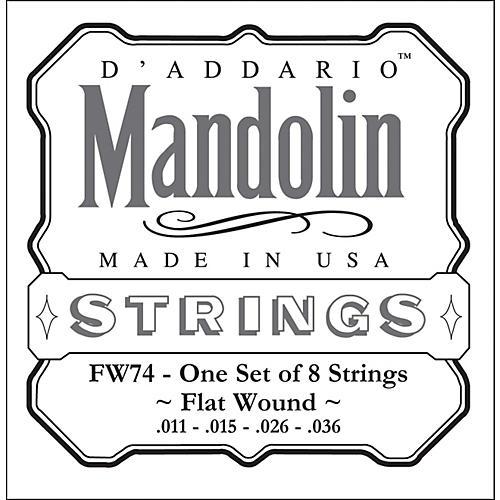 D'Addario FW74 Flatwound Medium Mandolin Strings